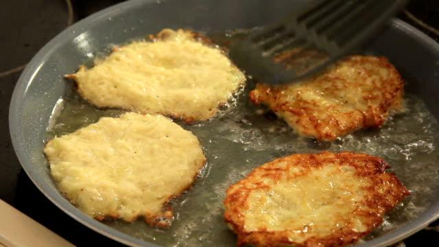 Potato Pancakes in Frying Pan video