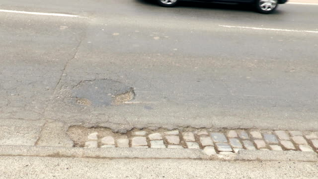 Pothole on the street video