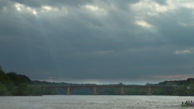 Potomac River and Key Bridge - Washington, D.C. - Time lapse