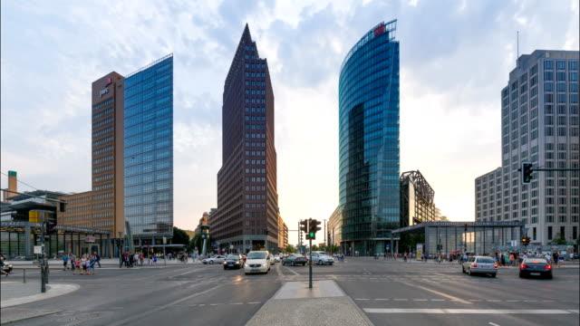 Potsdamer Platz Day to Night Time Lapse video