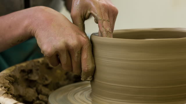 Pottery and Hands video