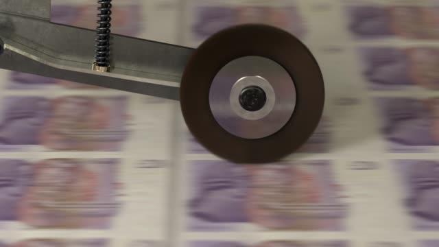 UK 20 Pound banknotes being printed
