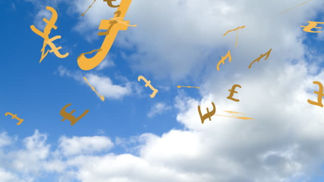Pound Signs falling from Sky video