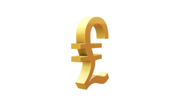 pound symbol - simbolo della sterlina video stock e b–roll