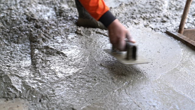 poured concrete floor - ghiaia video stock e b–roll