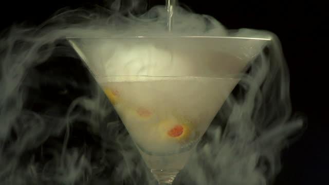 Pouring a vodka martini video