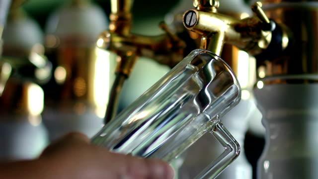 HD MACRO: Pouring beer video