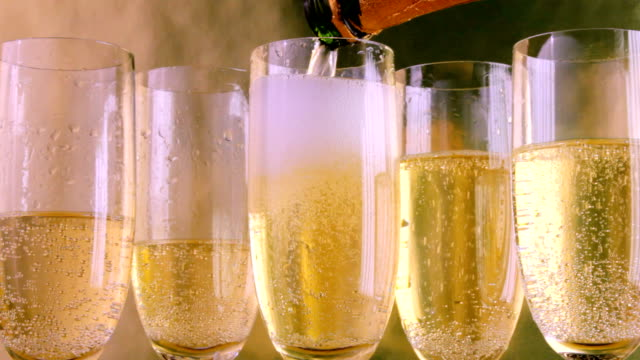 pouring champagne video