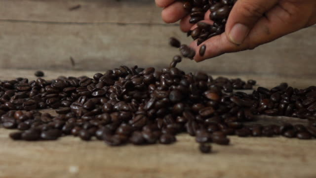 pouring coffee form hand slow motion - coffee farmer video stock e b–roll