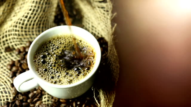 Pouring Coffee with text area Pouring Coffee kaffee stock videos & royalty-free footage