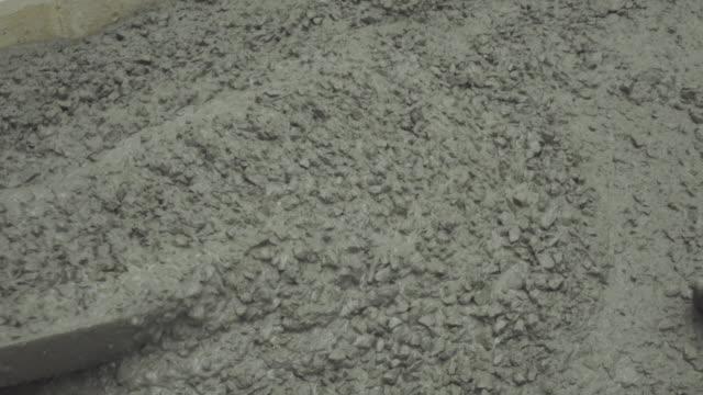 Pouring Concrete 4K. video