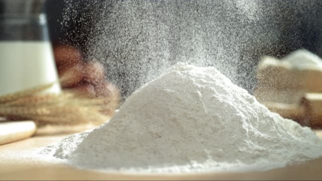 Pouring Flour Powder Pouring Flour Powder, Slow motion wheat stock videos & royalty-free footage