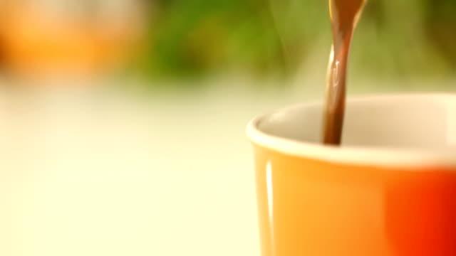 Pouring fresh coffee,HD 1080 video