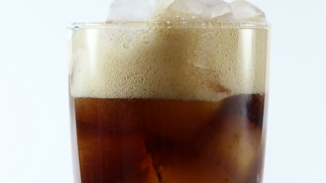 Pouring glass of cola video
