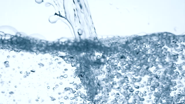 Pouring glass of water slow motion. Real video. video