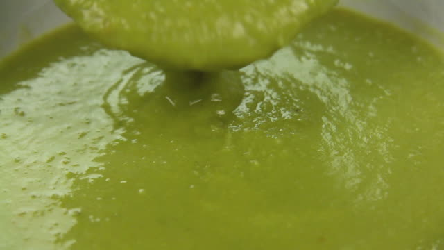 Pouring Pea Soup video