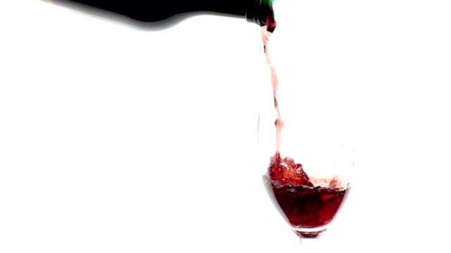 Pouring red wine into glass video