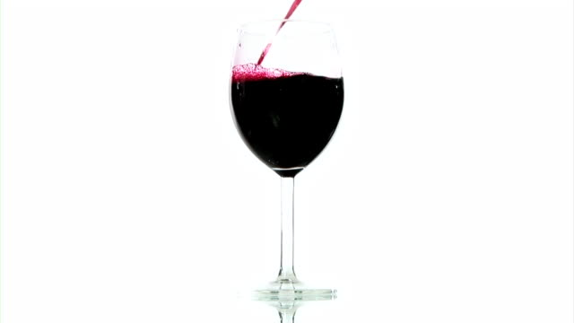 HD: Pouring Red Wine HD1080i: Pouring red wine in a wine glass.Isolated on a white background. red wine stock videos & royalty-free footage