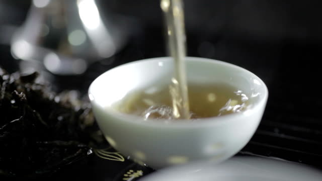 Pouring Tea In A Cup video