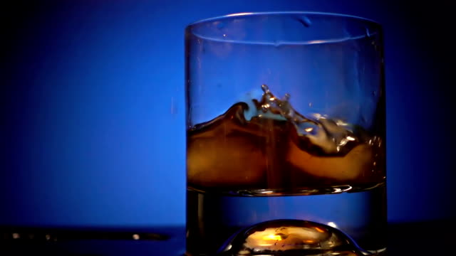 Pouring Whiskey With Ice video
