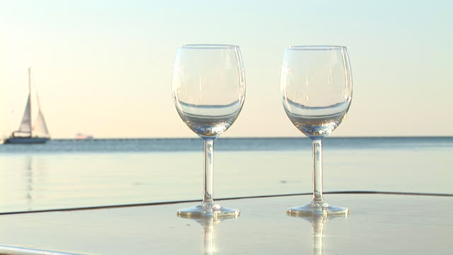 HD: Pouring Wine Near The Ocean video