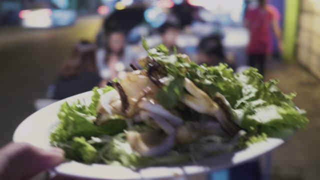pov Grilled squid street food video