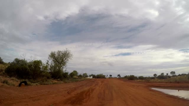 Pov of car driving in the Australian outback video