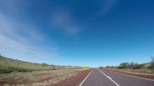 Pov of car driving into the Australian outback video