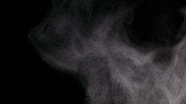 Powder isolated on black background