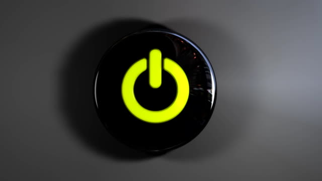 power buton Turn on and off push button stock videos & royalty-free footage