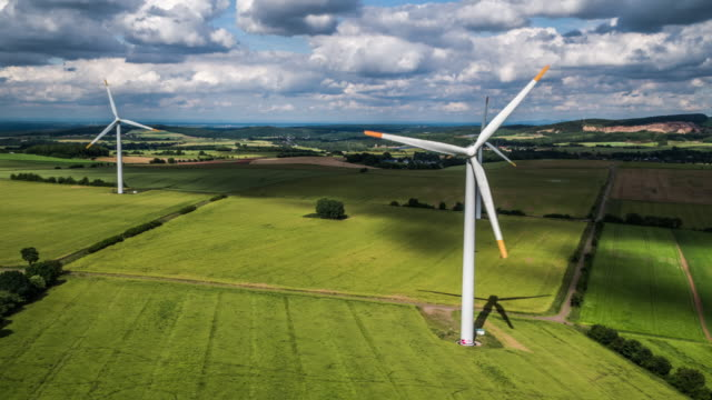 AERIAL: Power Generating Windmills video