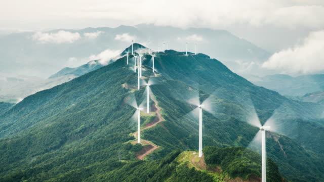 Power Generating Windmills Power Generating Windmills renewable energy stock videos & royalty-free footage