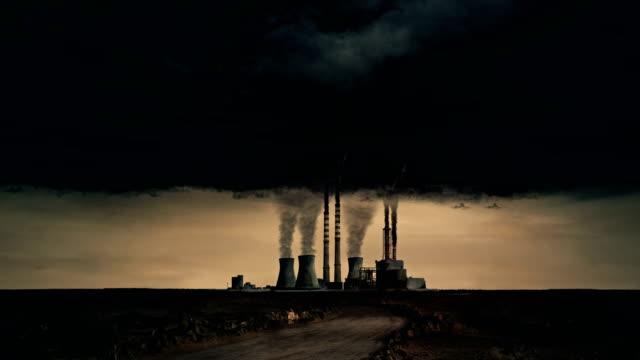 stockvideo's en b-roll-footage met elektriciteitscentrale - luchtvervuiling - 4k, loopable - broeikasgas