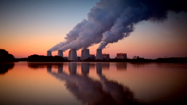 Power Plant in the sunrise video