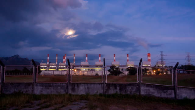 Power plant powerhouse electric industry video