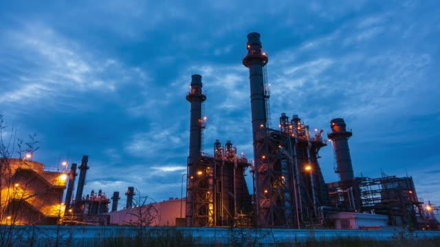 stockvideo's en b-roll-footage met elektriciteitscentrale. - raffinaderij