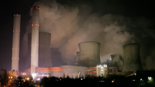 Power Station at night video