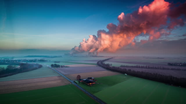 Power Station in German Countryside