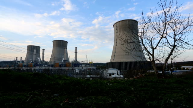 power station - reattore nucleare video stock e b–roll