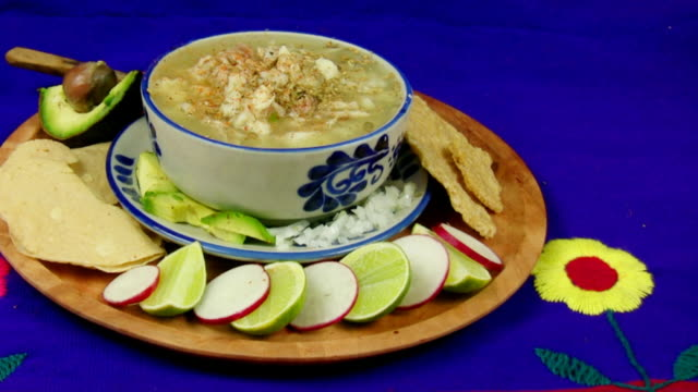 Pozole Mexican Dish Being Prepared (HD) video