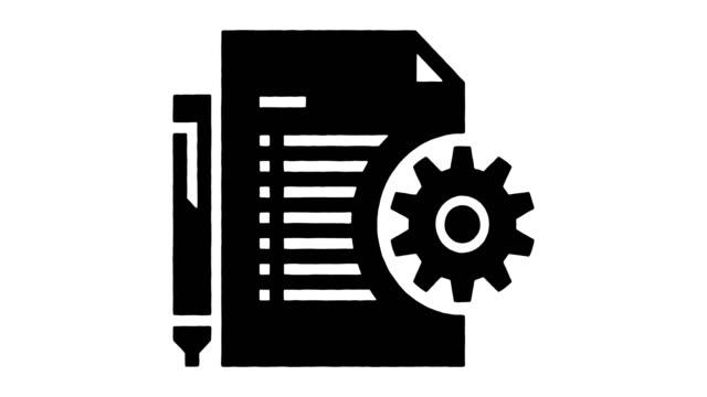 praktiska instruktioner linjeritning & bläcksplatter avslöjar animation med alpha - rådig bildbanksvideor och videomaterial från bakom kulisserna