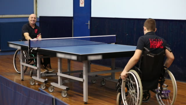 Practicing table tennis video