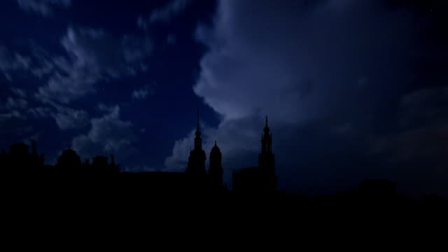 prague and the night thunderstorm - church architecture stock videos & royalty-free footage