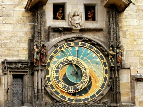 プラハの天文時計  - チェコ共和国点の映像素材/bロール