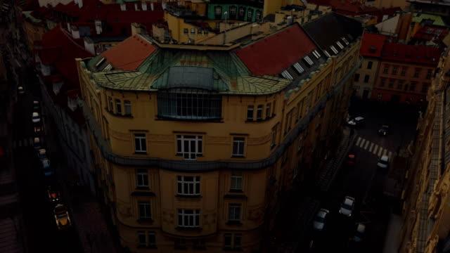 prague old city view - barocco video stock e b–roll