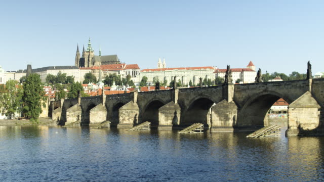 Prague Charles Bridge timlapse sorpresa stock videos & royalty-free footage