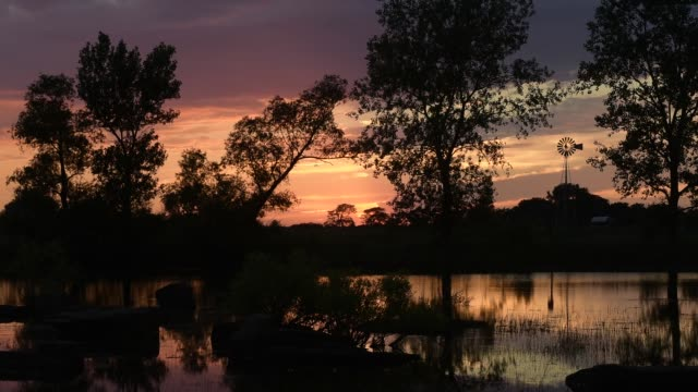 Prairie Pond Sunset Number 2 Time Lapse video