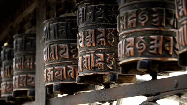 Prayer drums in Swayambhunath video