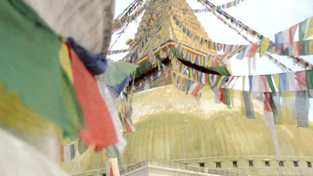 Prayer flags and Boudhanath Stupa video