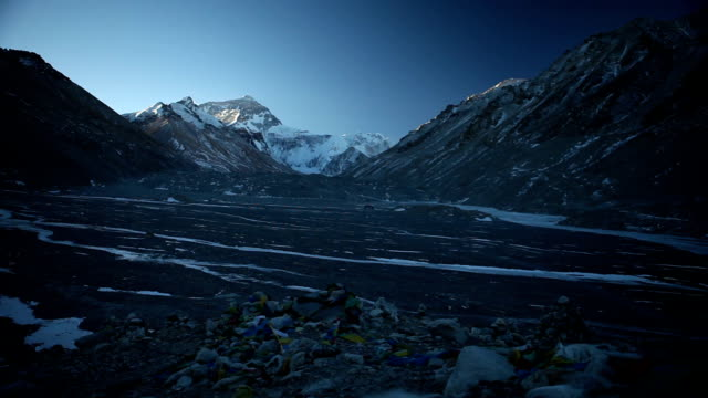 Prayer Flags at Base Camp for Mt. Everest video
